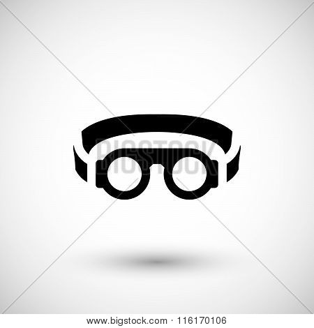Protective welding goggles icon