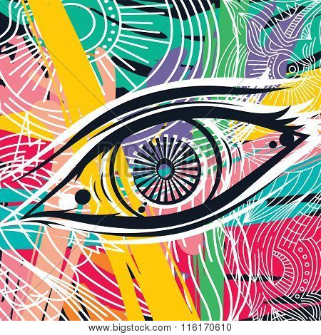 Horus Eye Abstract Art