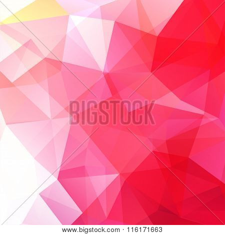 Geometric Pattern, Polygon Triangles Vector Background In Pink Tones. Illustration Pattern. Pink, Re