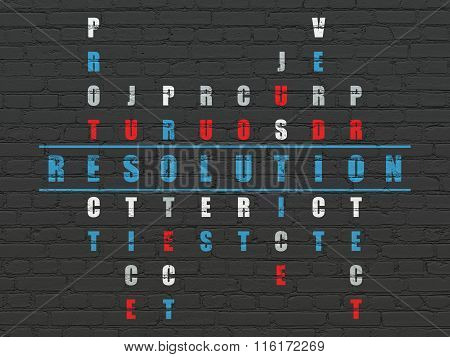 Law concept: Resolution in Crossword Puzzle