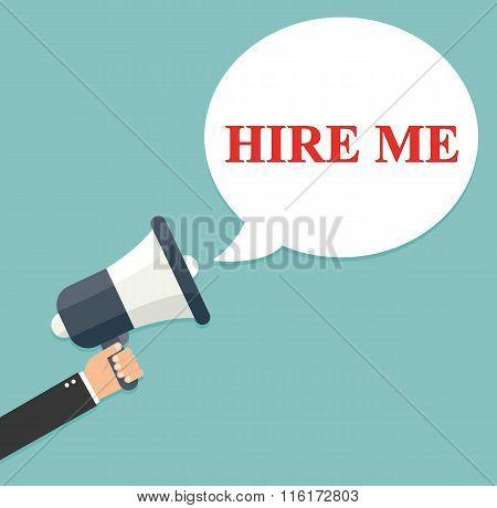 Hand Holding Megaphone - Hire Me