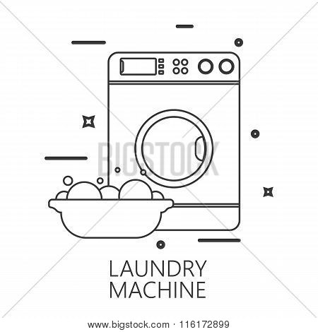 Icon Of Laundry Line Style