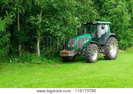 Tractor In The Wood