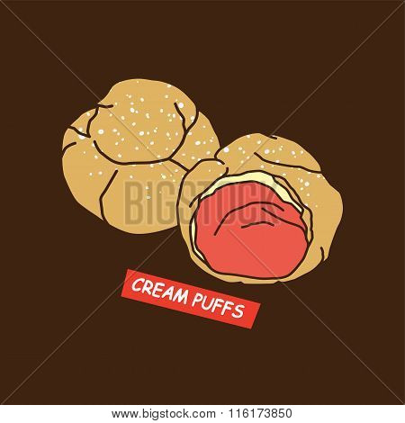 Delicious Cream Puff