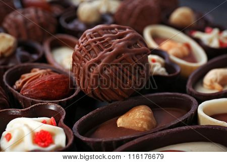 Chocolate sweets background