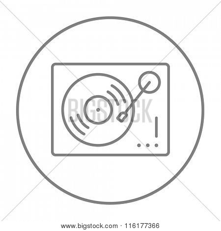 Turntable line icon.