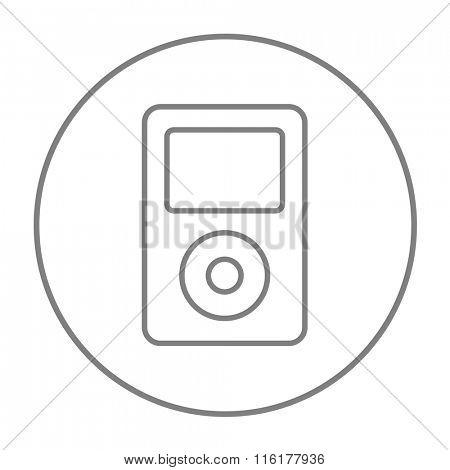 MP3 player line icon.