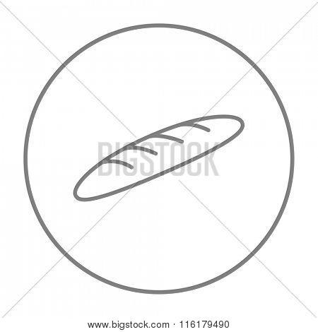 Baguette line icon.