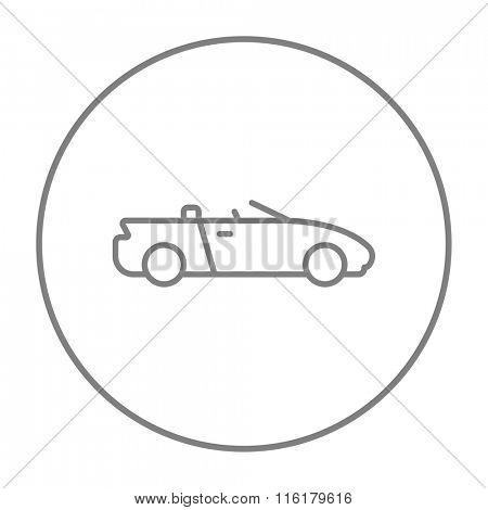 Convertible car line icon.