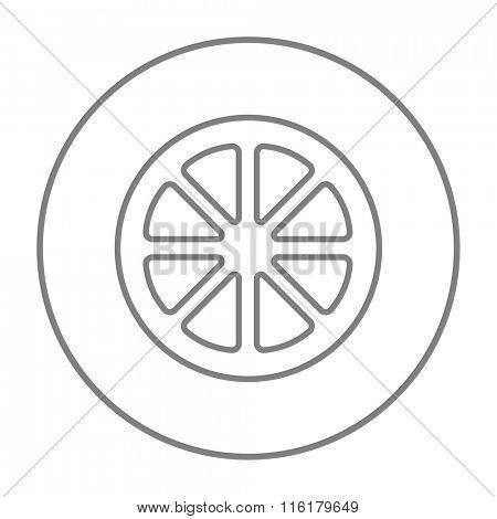 Slice of lemon line icon.
