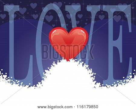 Love - Heart Card