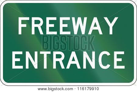 United States Mutcd Road Sign - Freeway Entrance
