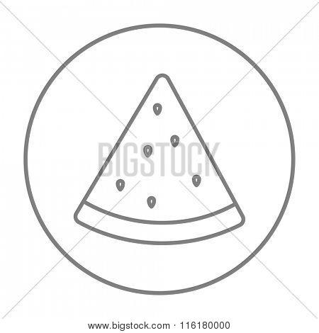 Watermelon line icon.