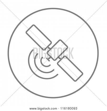 Satellite line icon.