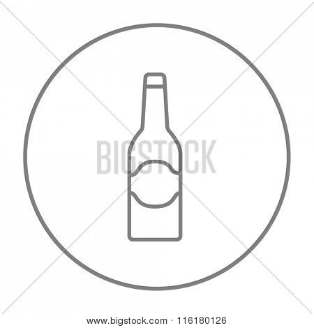 Glass bottle line icon.