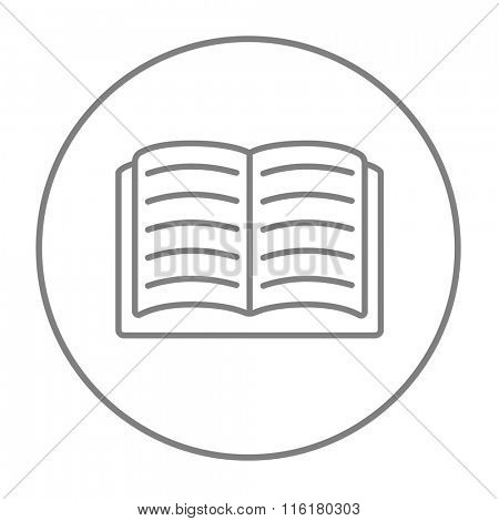 Open book line icon.