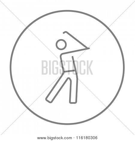 Golfer line icon.
