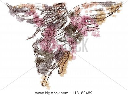 Abstract Silhouette Of Angel