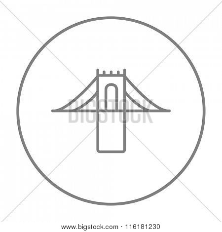 Bridge line icon.