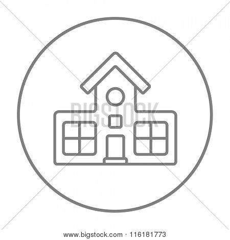 Building line icon.