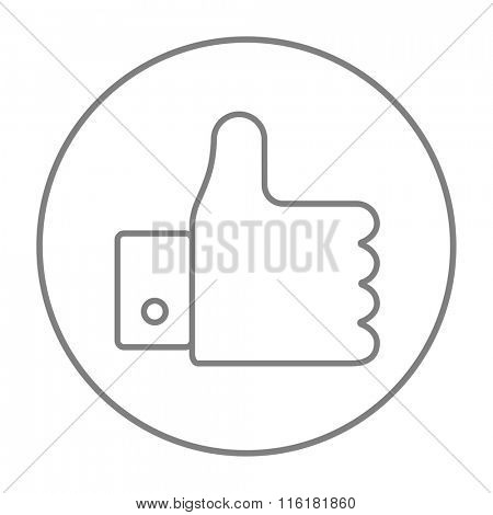 Thumb up line icon.