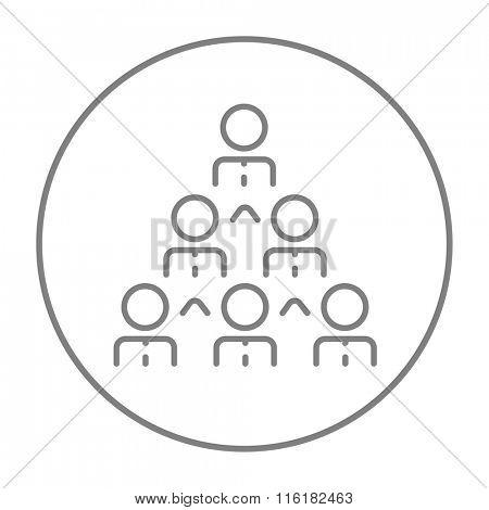 Business pyramid line icon.