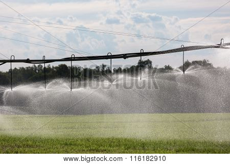Large Lateral Move Irrigation System