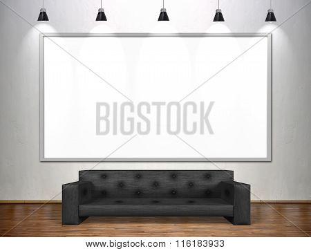 Blank Poster In Empty Loft