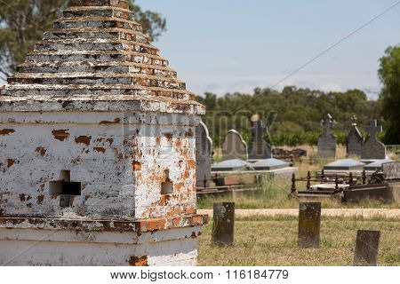 Rural Cemetery In Australia