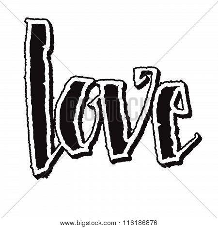 Stylish Love Lettering