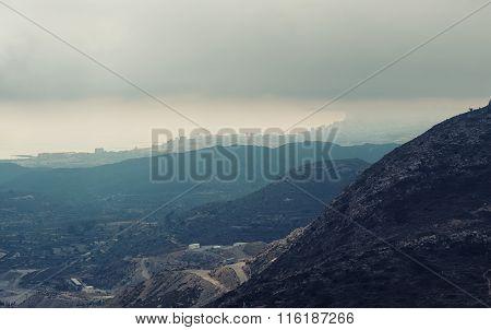 Mountain Ranges In Alicante. Costa Blanca, Valencia. Spain