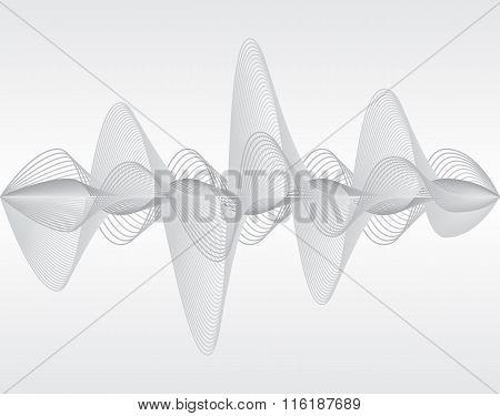 Sound wave. Vector illustration.