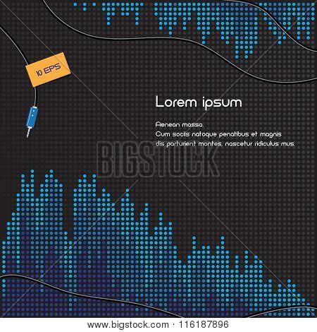 Black and blue volume background illustration
