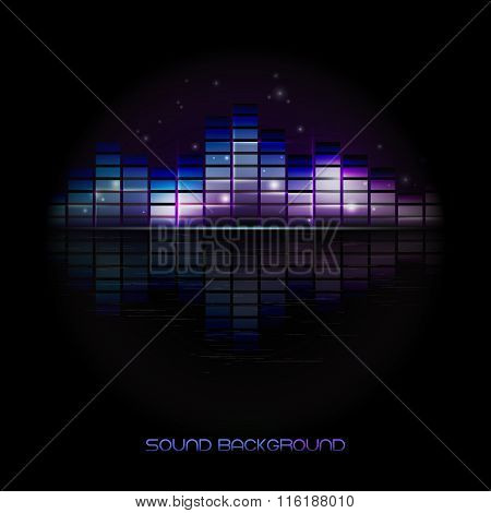 Volume background isolated vector illustration