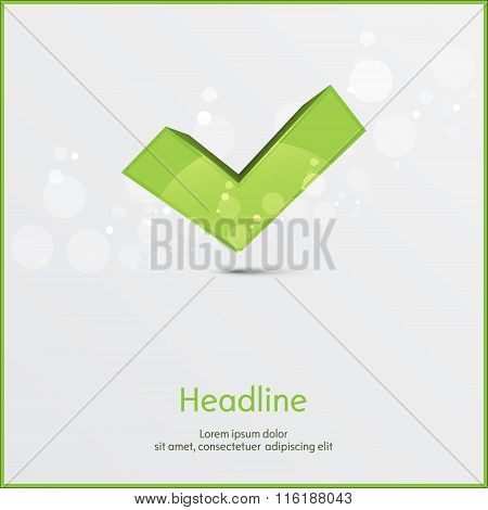 Yes background. Isolated. Vector illustration.