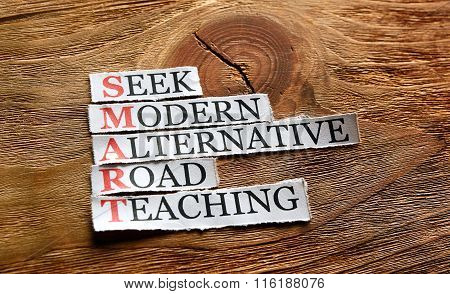 Smart Teaching  Definition On Wood