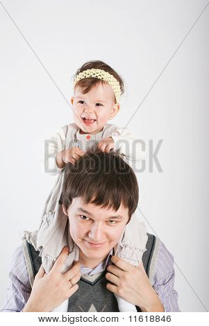 The Little Girl Lives Off The Happy Father..