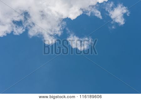 Blue Sky And White Cloud As Background