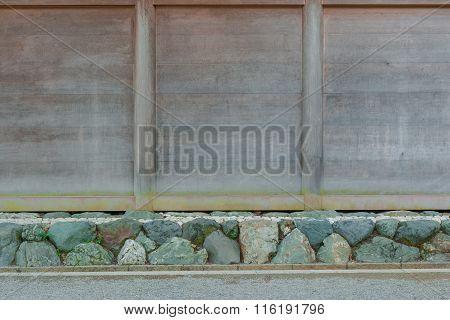 Wood Signboard At Roadside Nature Background.