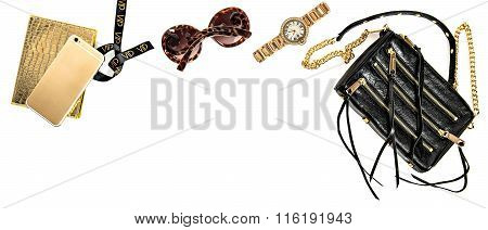 Fashion Banner Business Lady Accessories. Online Shop Desktop