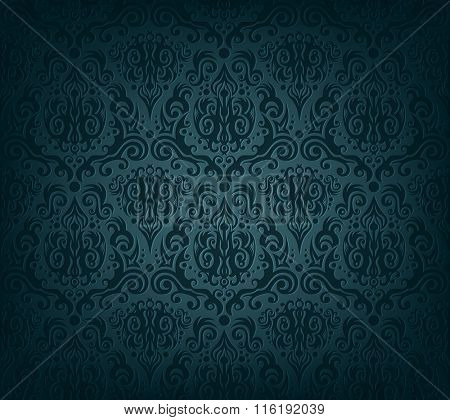 Vector illustration of dark blue wallpaper