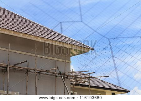 Scaffold Support For House Building