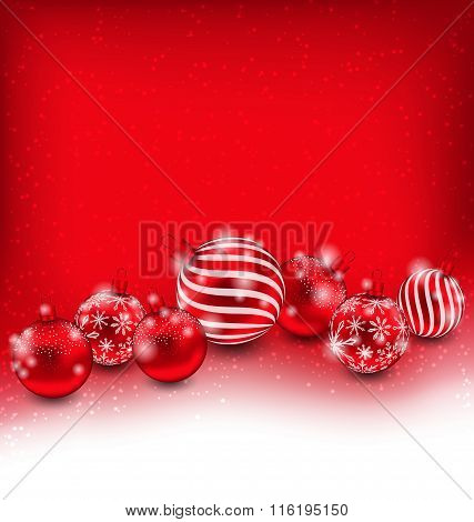 Christmas and Happy New Year Abstract Background