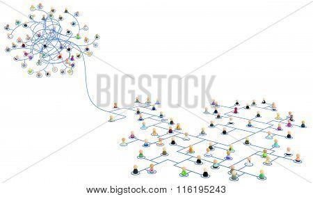 Cartoon Crowd, Link Tangled Path