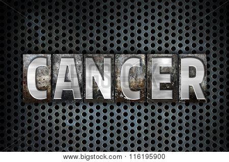 Cancer Concept Metal Letterpress Type