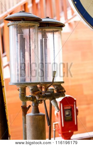 Photo of old oil pump service station