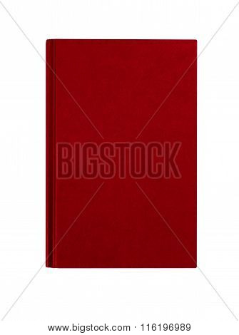 Maroon Red Hardcover Book Front Cover Upright Vertical Isolated On White