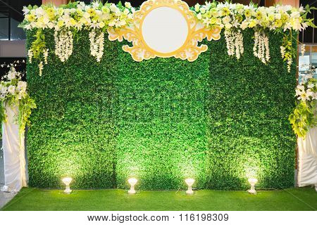 Luxury Indoors Wedding Stage Decorate