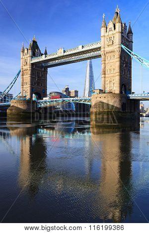 Tower Bridge On Sunny Day ,london United Kingdom