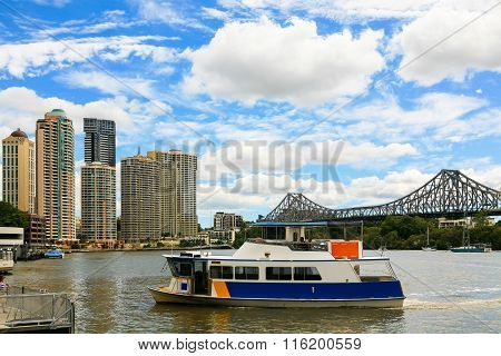 Boat on Brisbane River